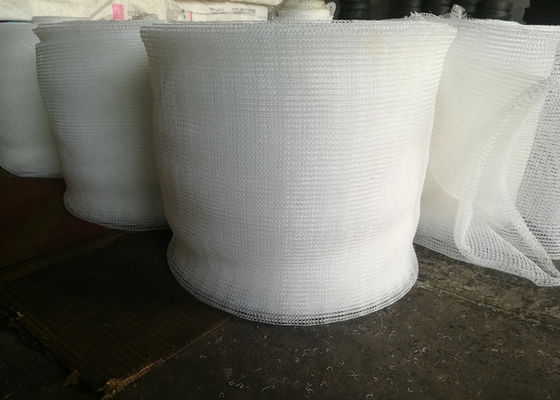 PP Knitted Wire Mesh / Mist Eliminator Mesh Excellent Corrosion Resistance