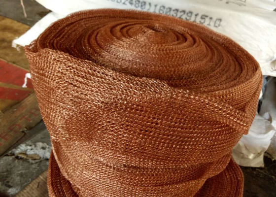 Chiny Standard SP Copper Knitted Wire Mesh For Corrosion Resistant Filter Pad fabryka