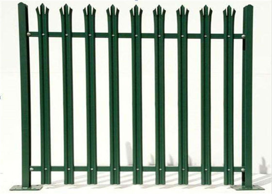 Chiny Durable W Section Green Palisade Fencing , Single Point Road Security Fence fabryka