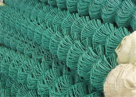 Chiny Green Flat Wire Mesh , 2x2 Chain Link Fence Mesh For Building Material fabryka